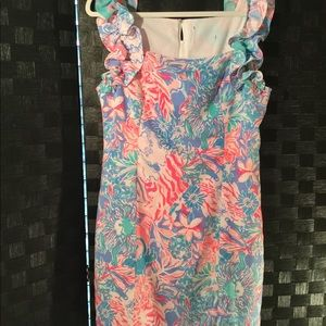 Lilly Pulitzer dress with ruffles